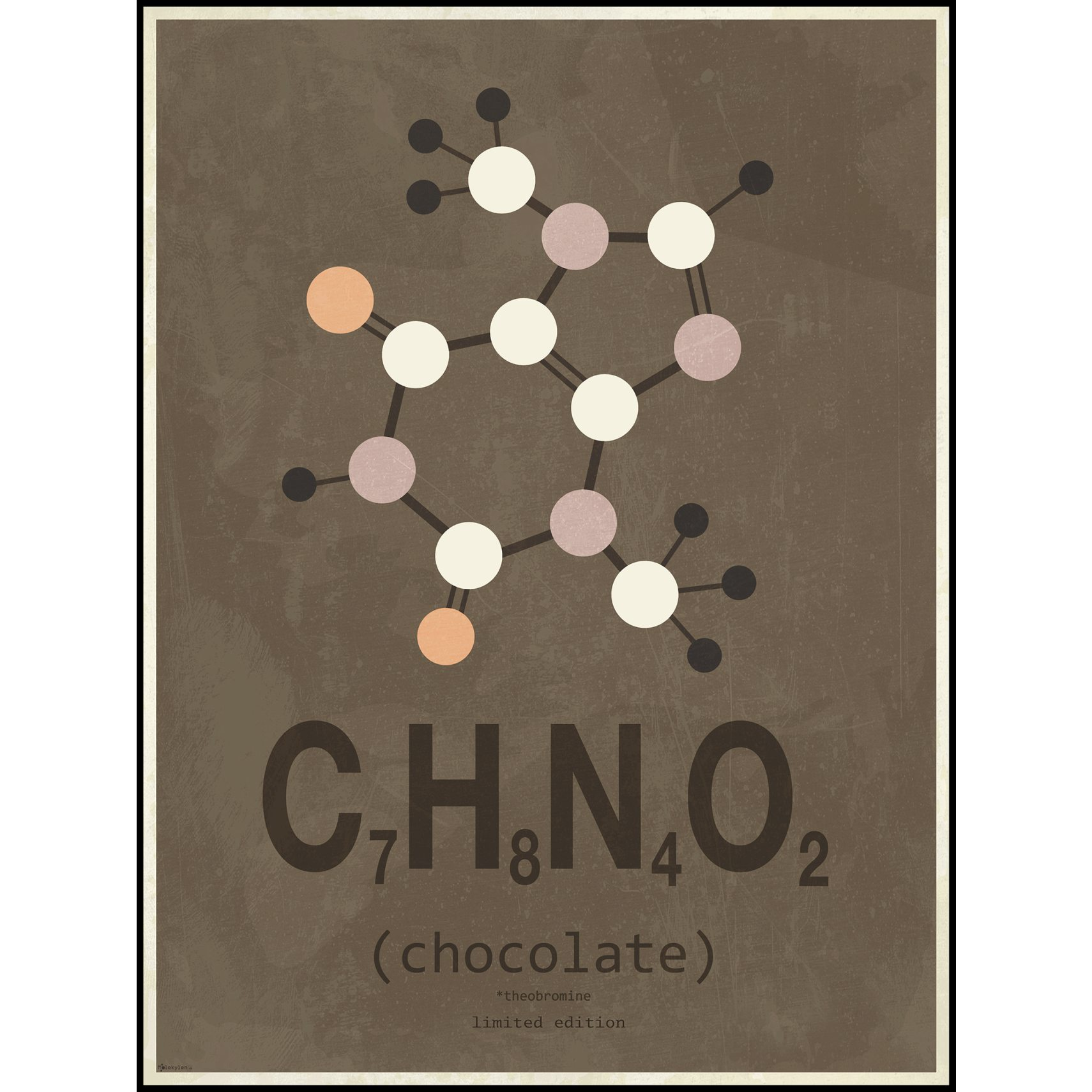 Molecyles Plakat - Chocolate, Limited edition og Sort alu ramme