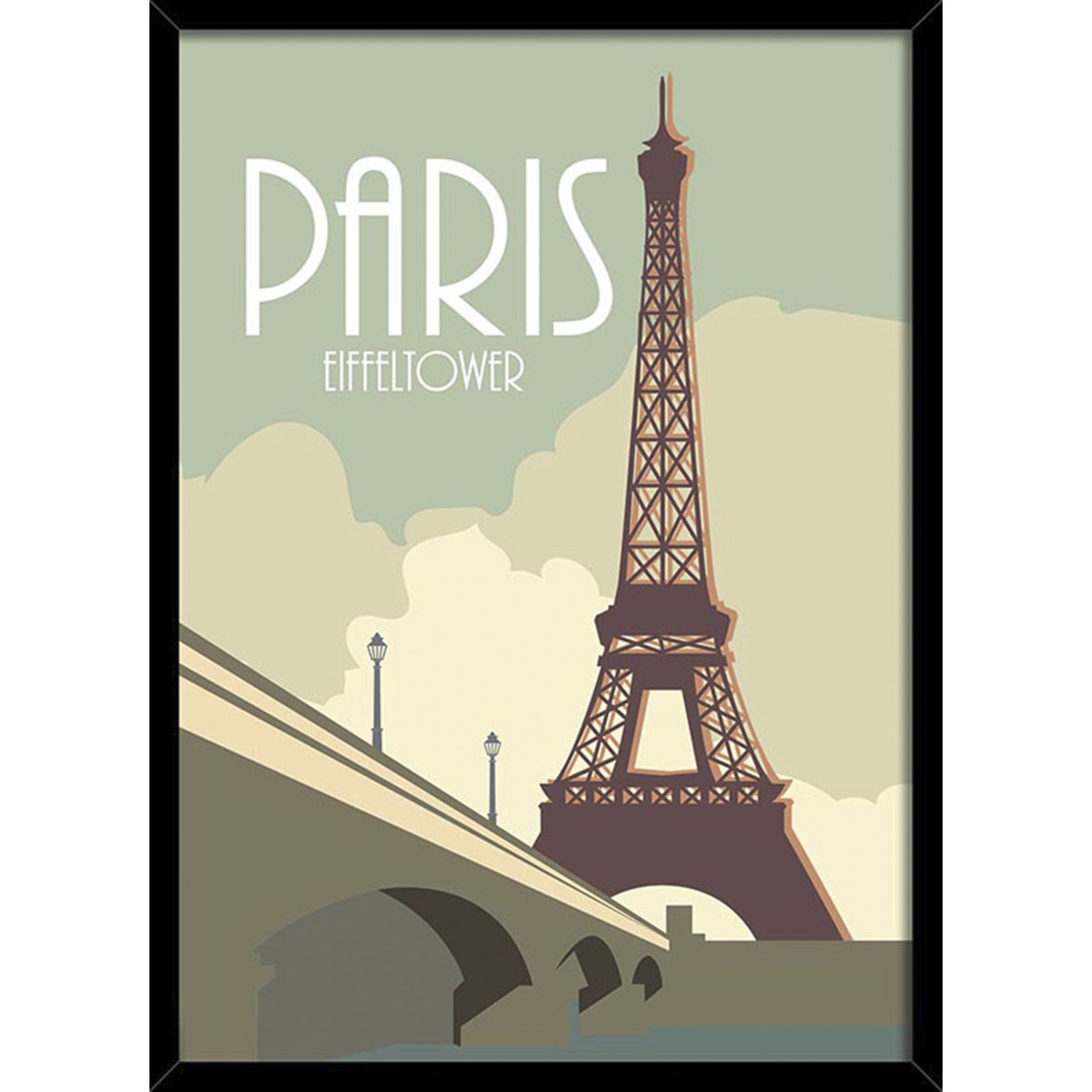 BY BILLEDER Plakat - PARIS m/ sort ramme