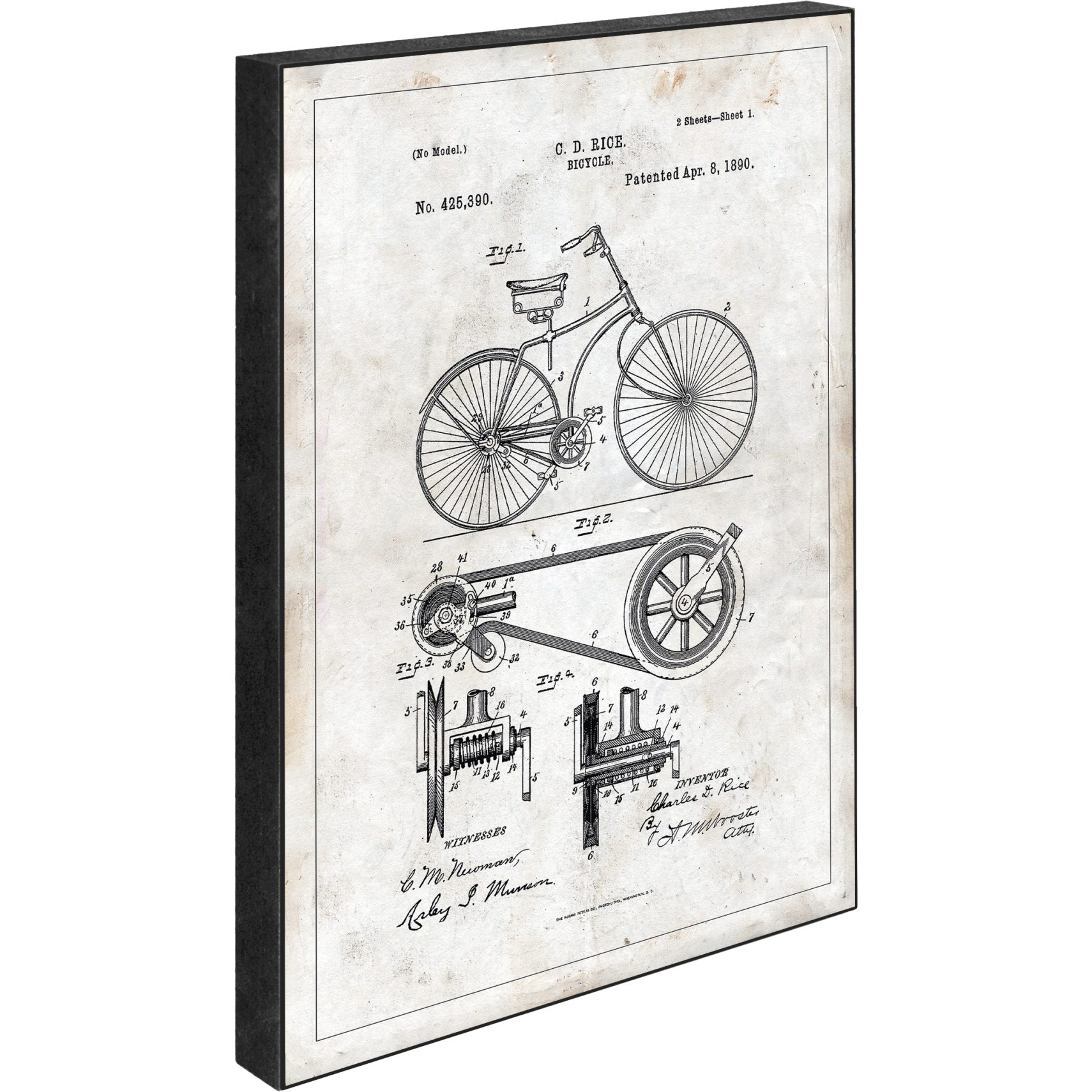 Blocks Skilt 15 x 21 x 2 cm - Patent - Bycicle