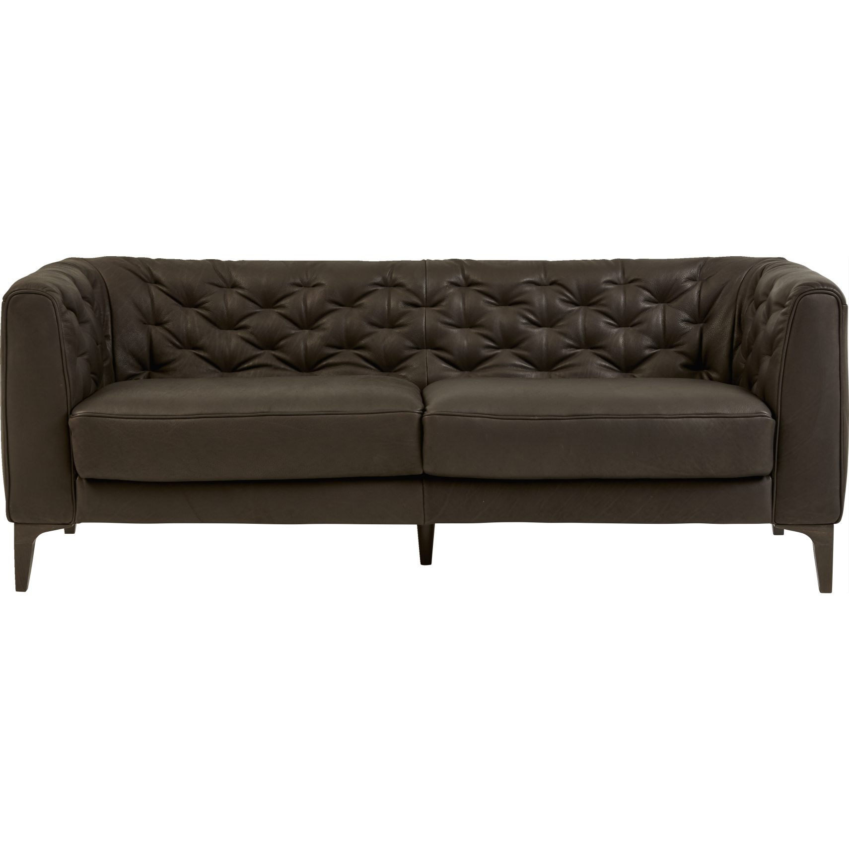 Natuzzi Editions B988 009 3 pers Sofa - Madison 20RE Coffee læder og ben i wengébejdset træ