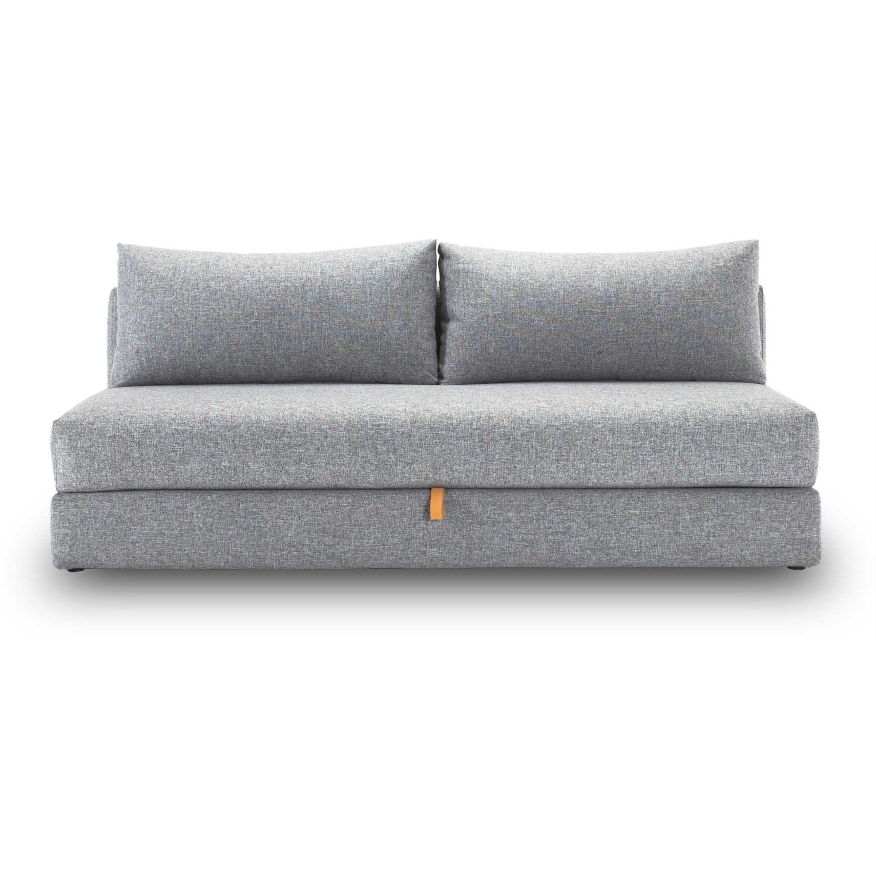 Osvald de luxe Sovesofa - Twist 565 Granite, pocketspring/hypersoft skummadras og magasin med læderstrop