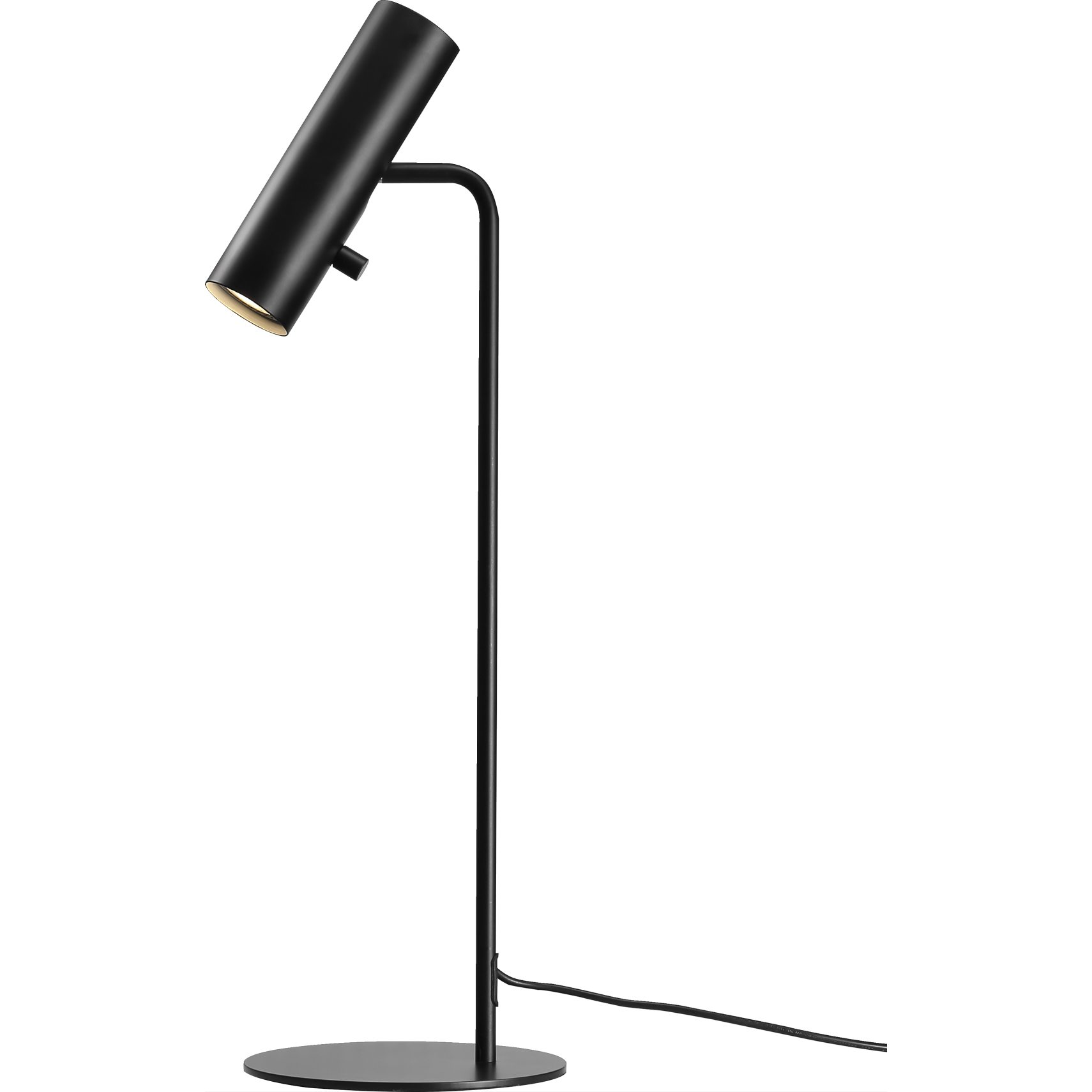 MIB Bordlampe - Sort metal og sort ledning