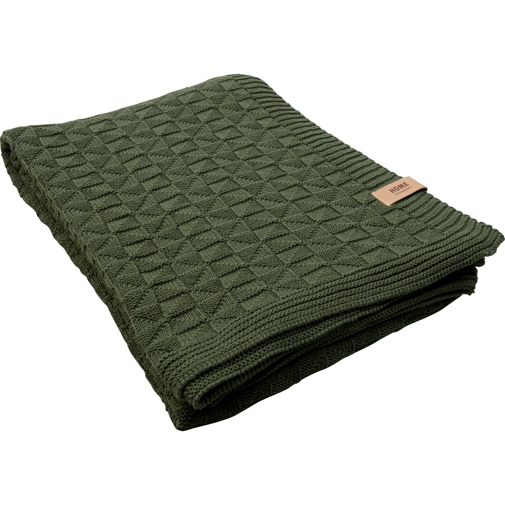 Vallborg Plaid - Kombu green bomuld