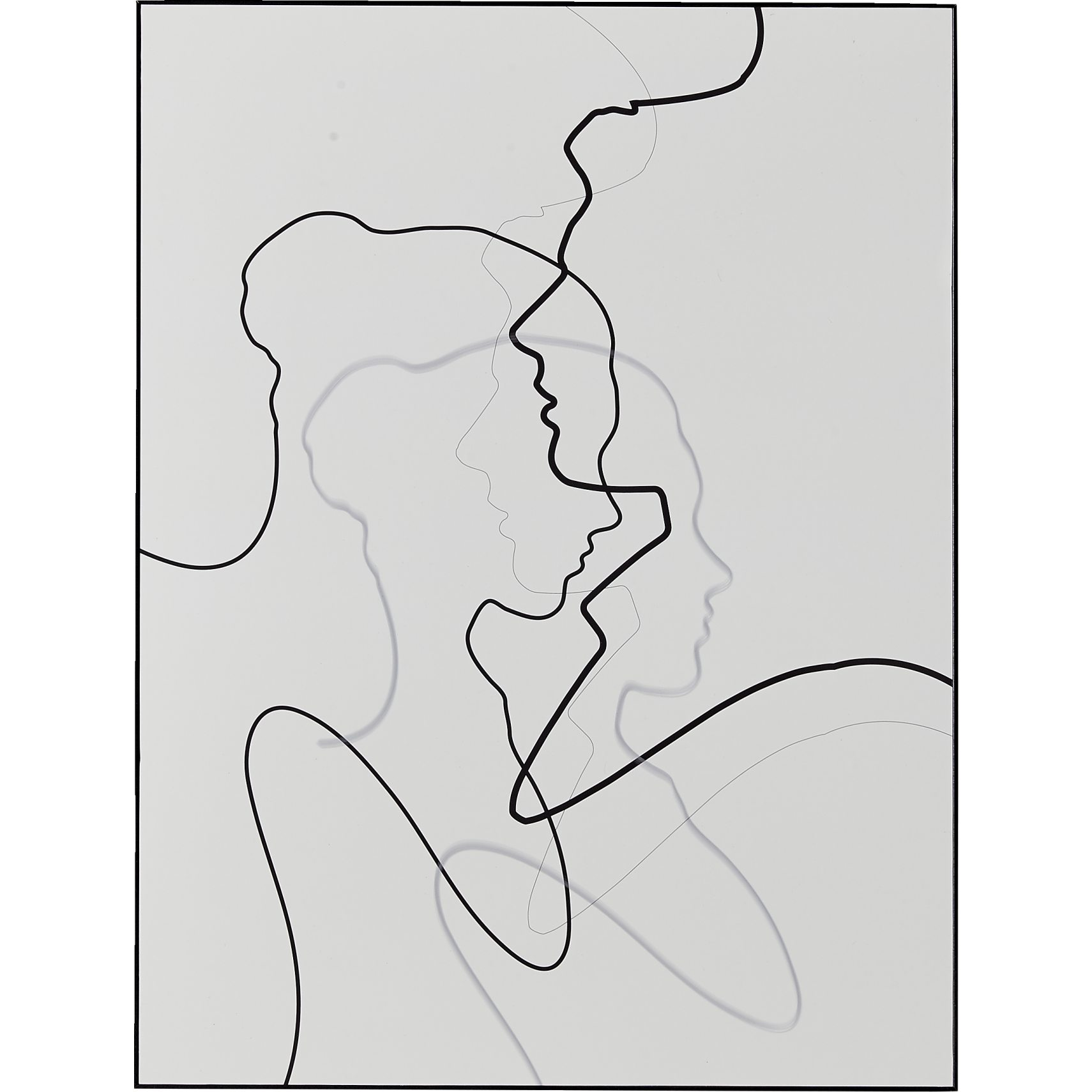Together Female Plakat 60 x 80 x 7 cm - Blank, blank og Blank