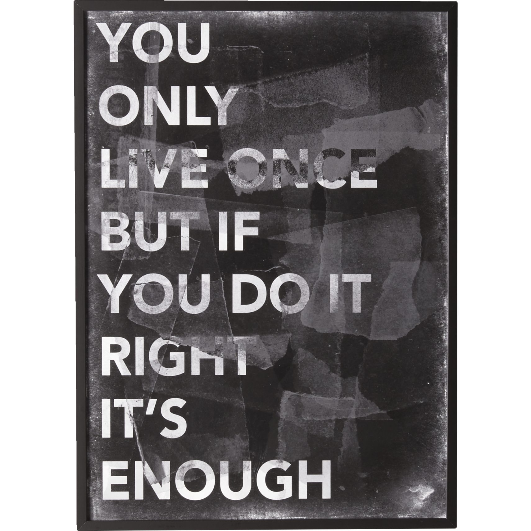 You Only Live Once Plakat 50 x 70 cm -