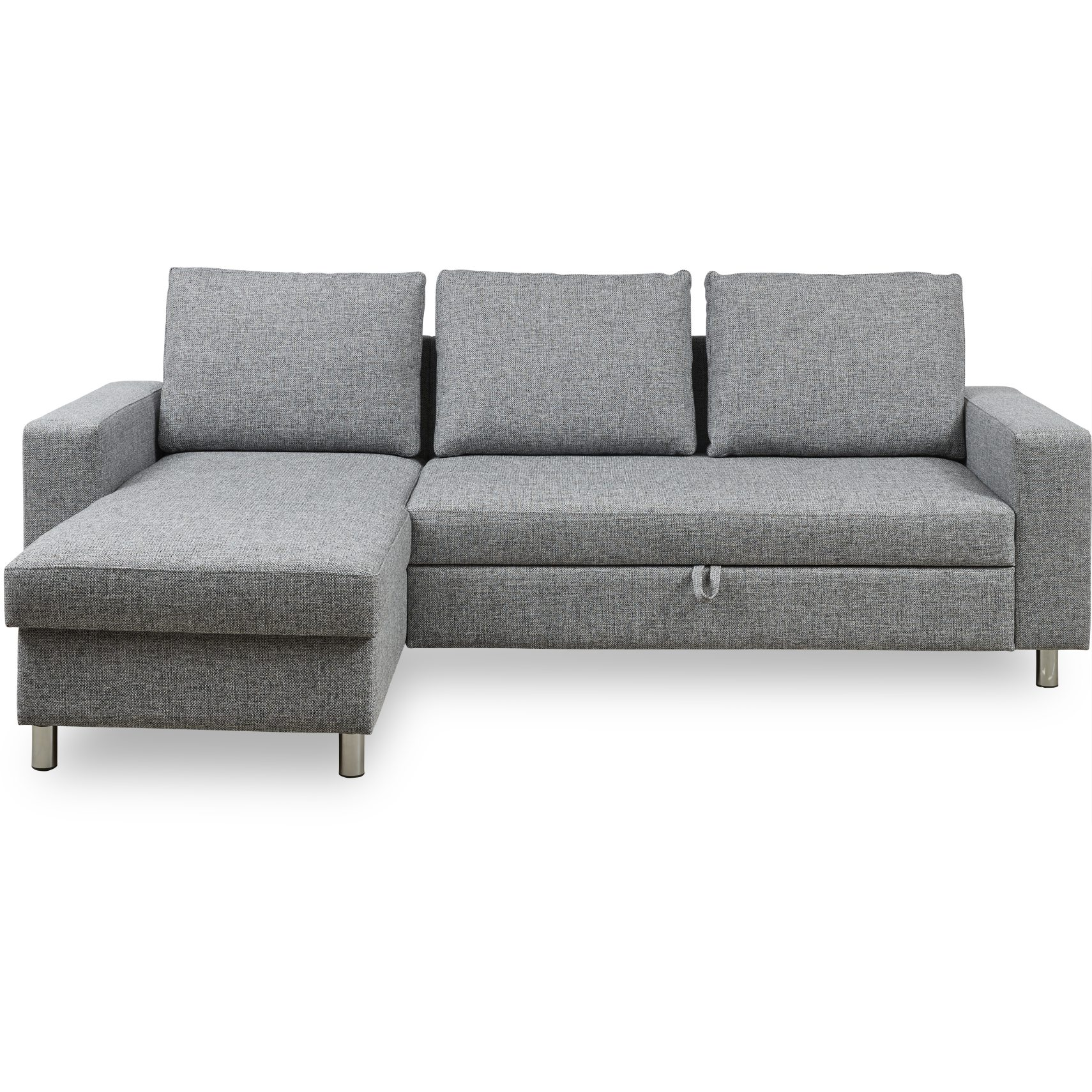 Devon Flex 250 Sovesofa - Riviera 53 Light Grey stof, Armlæn 1+1 og S: Pocket R: Dun/fiberkugler