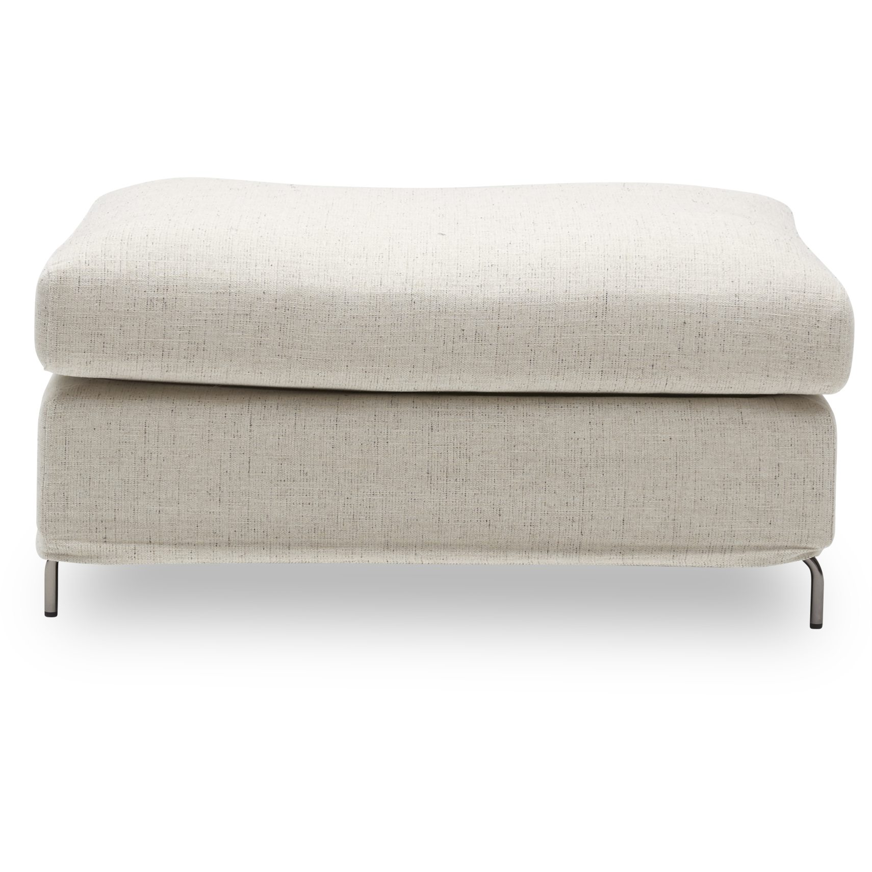 Gepetto Sofa puf - Adam 1448-01 Natural stof og ben i krom