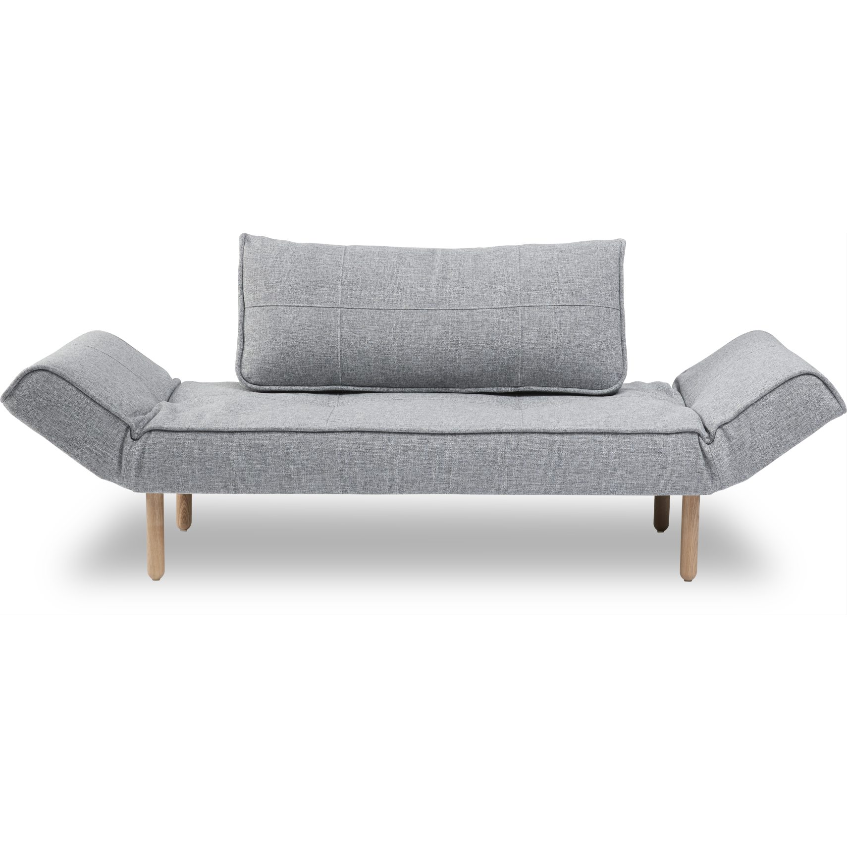 Zeal Sovesofa - Twist 565 Granite og Stem ben i lyst træ