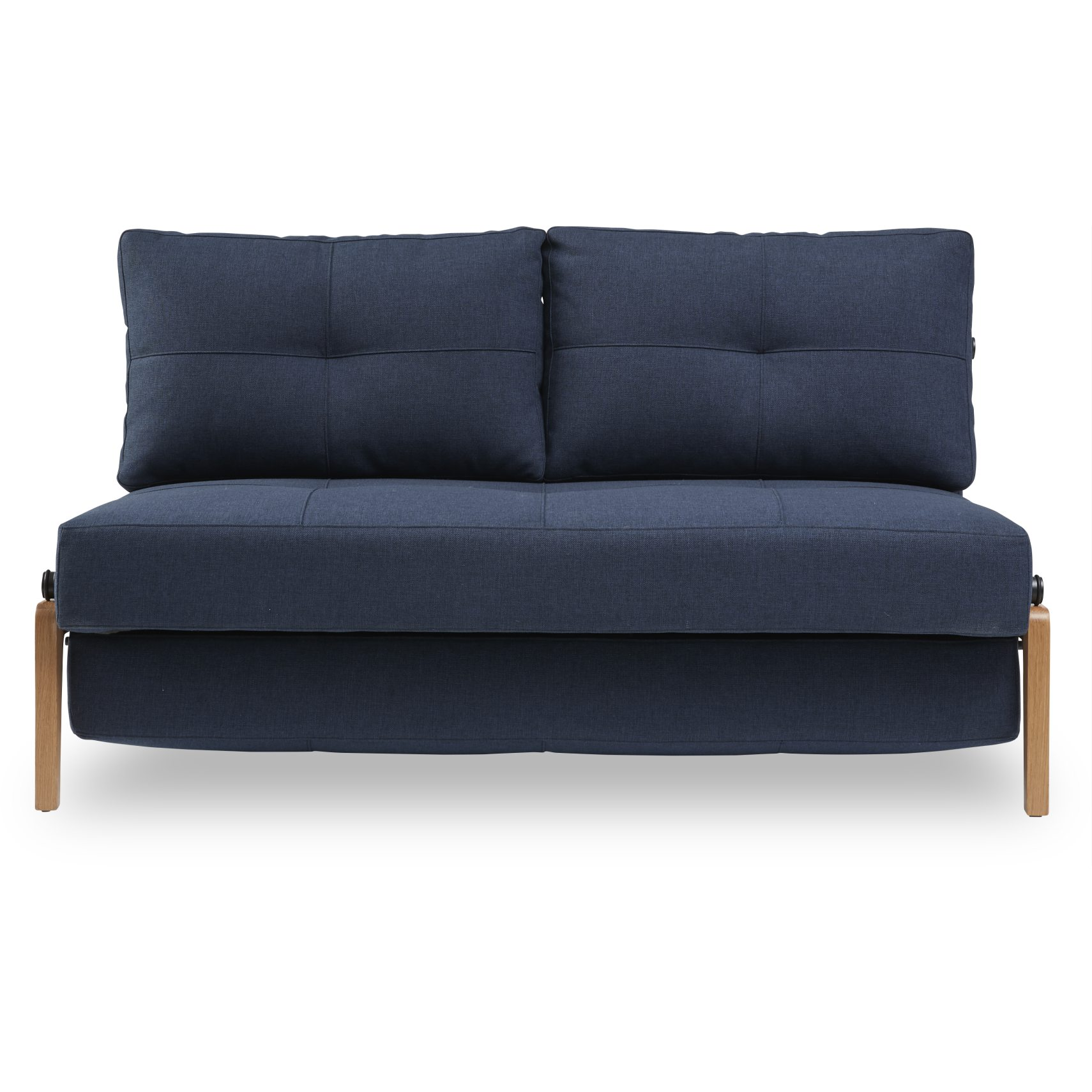 Cubed Wood Sovesofa - Mixed Dance 528 Blue og ben i massiv lakeret eg