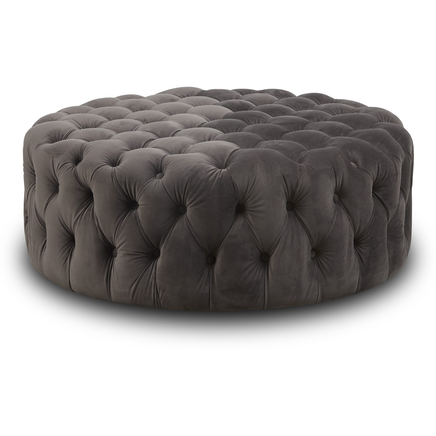 Cindy Sofa puf - Grey 2028-34 velour stof