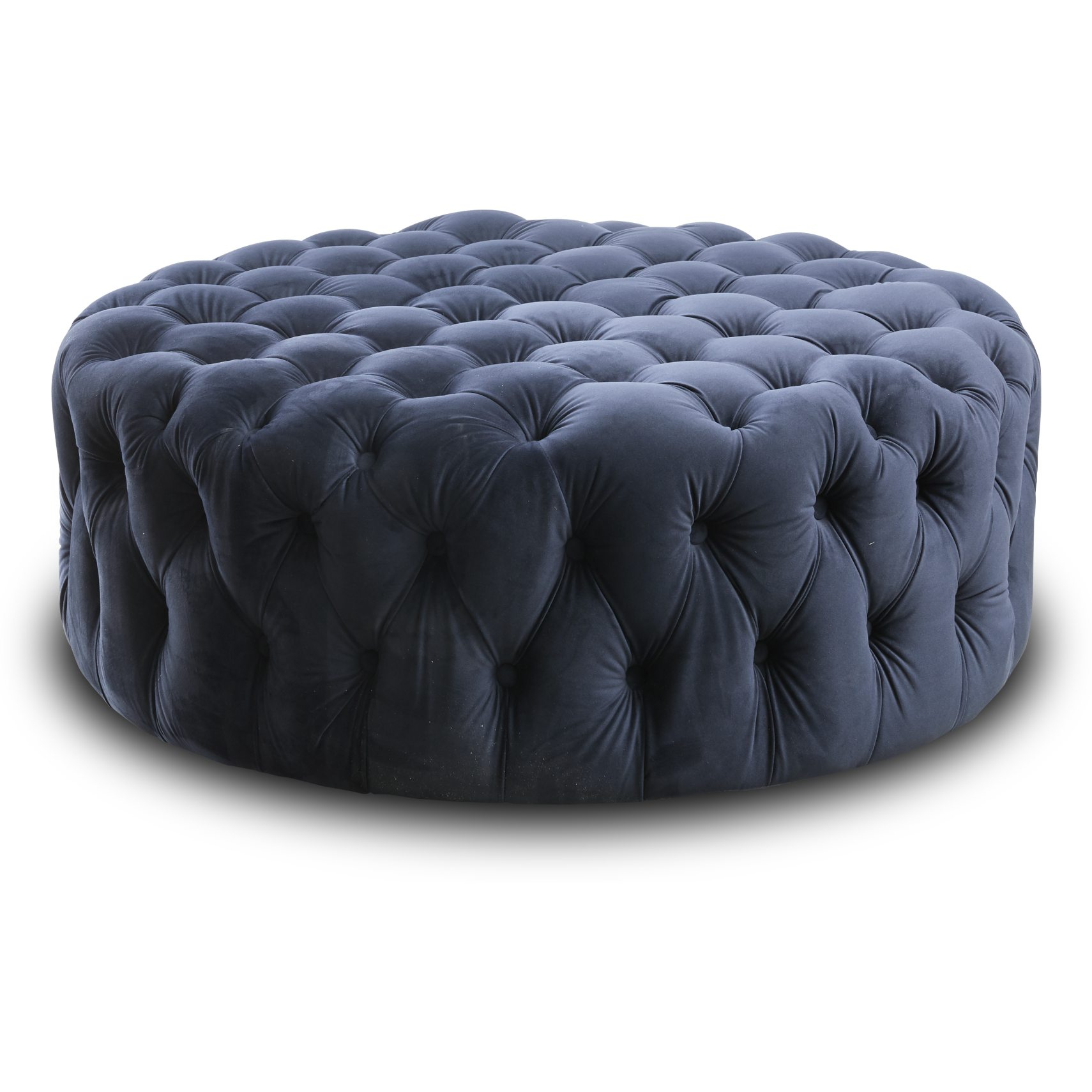 Cindy Sofa puf - Blue 2028-32 velour stof