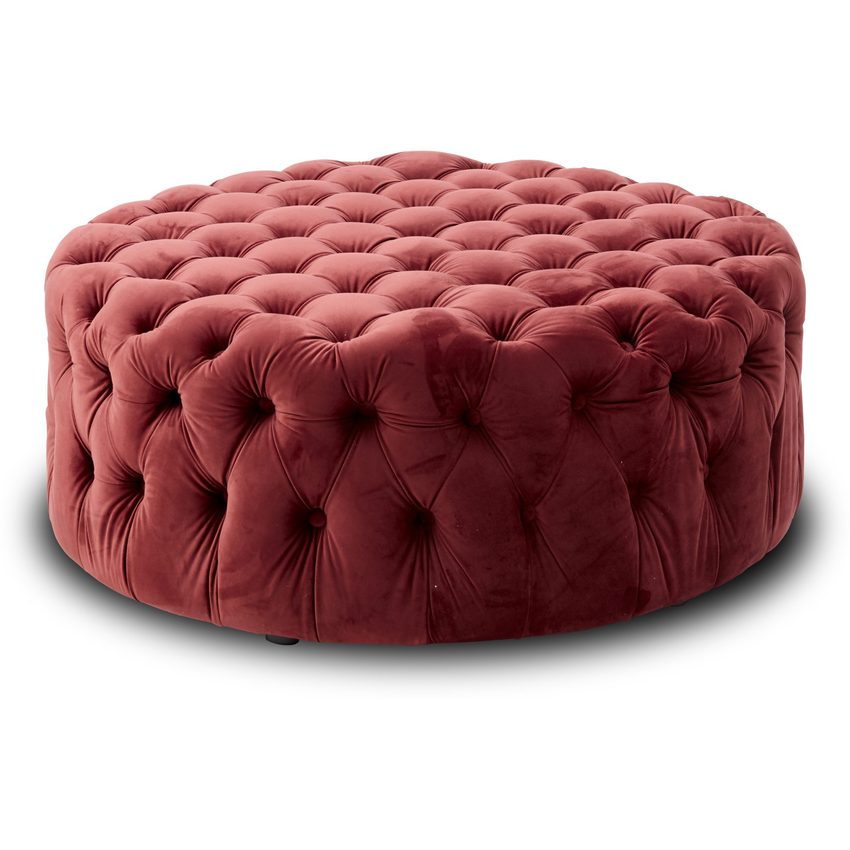 Cindy Sofa puf - Barn red 2028-51 velour stof