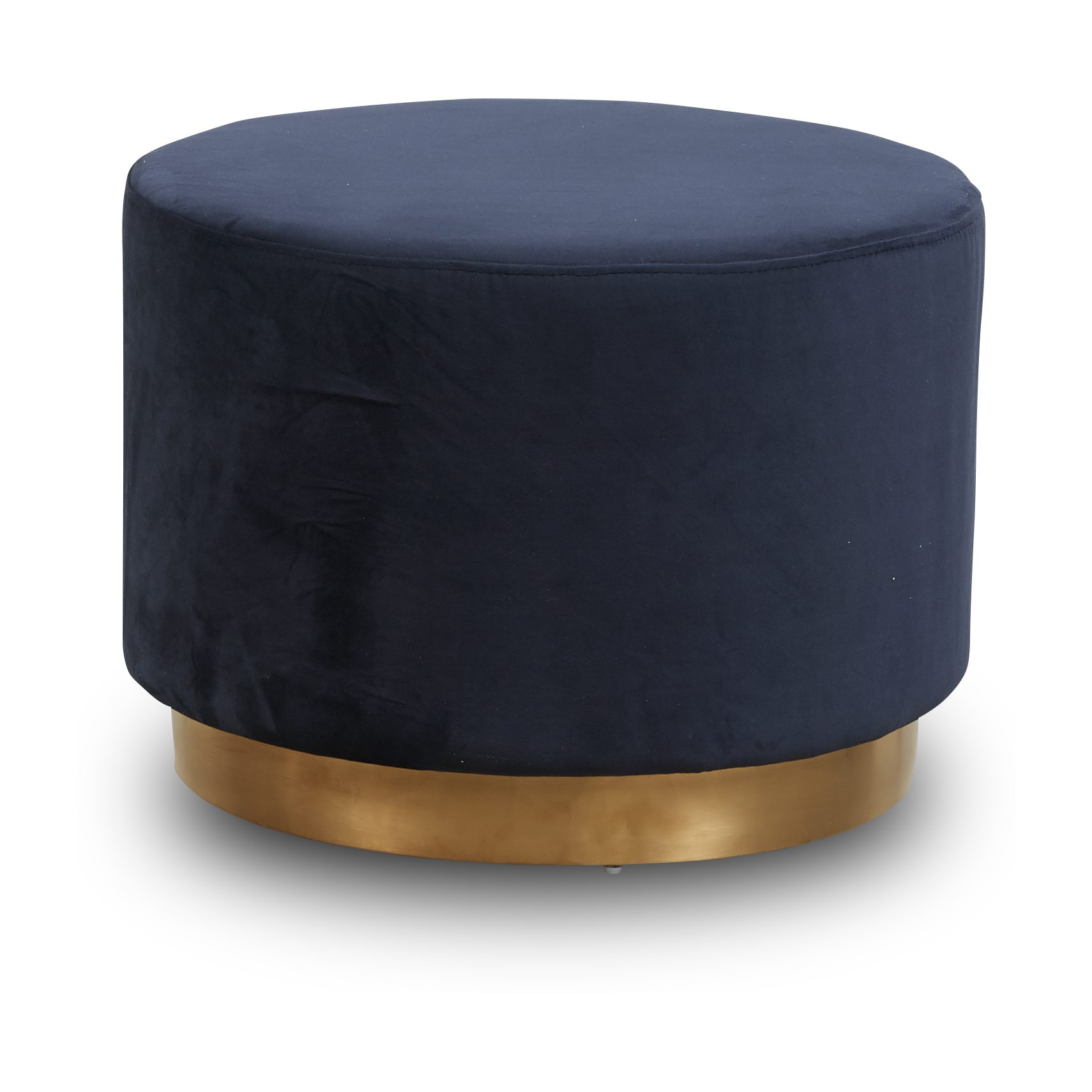 Gold Sofa puf - Blue 2028-32 velour stof og Sokkel i messing